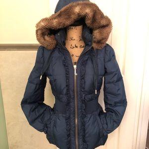 Luxe down feather feminine JUICY coat